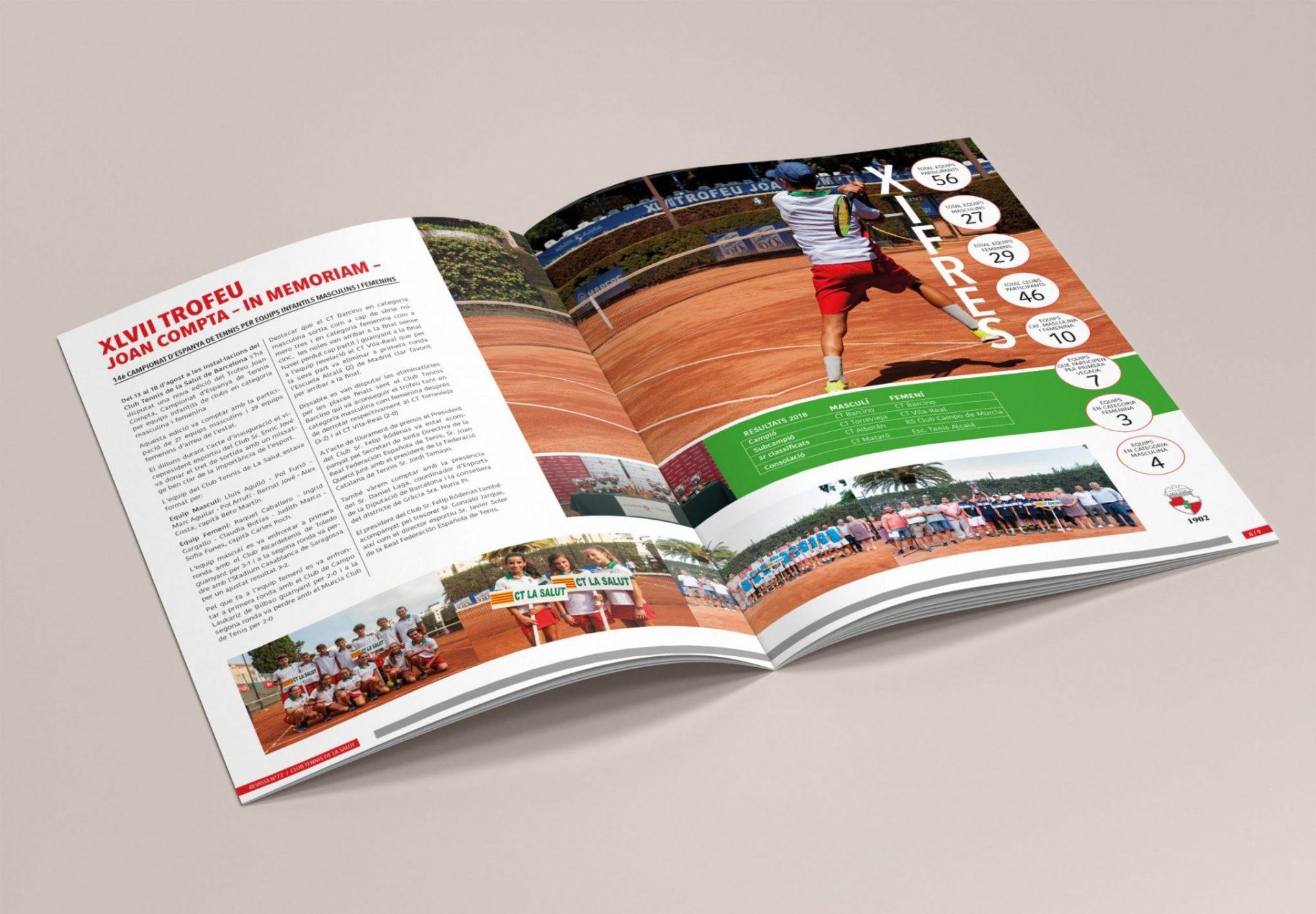 Revista para Club de Tennis la Salut. 2019