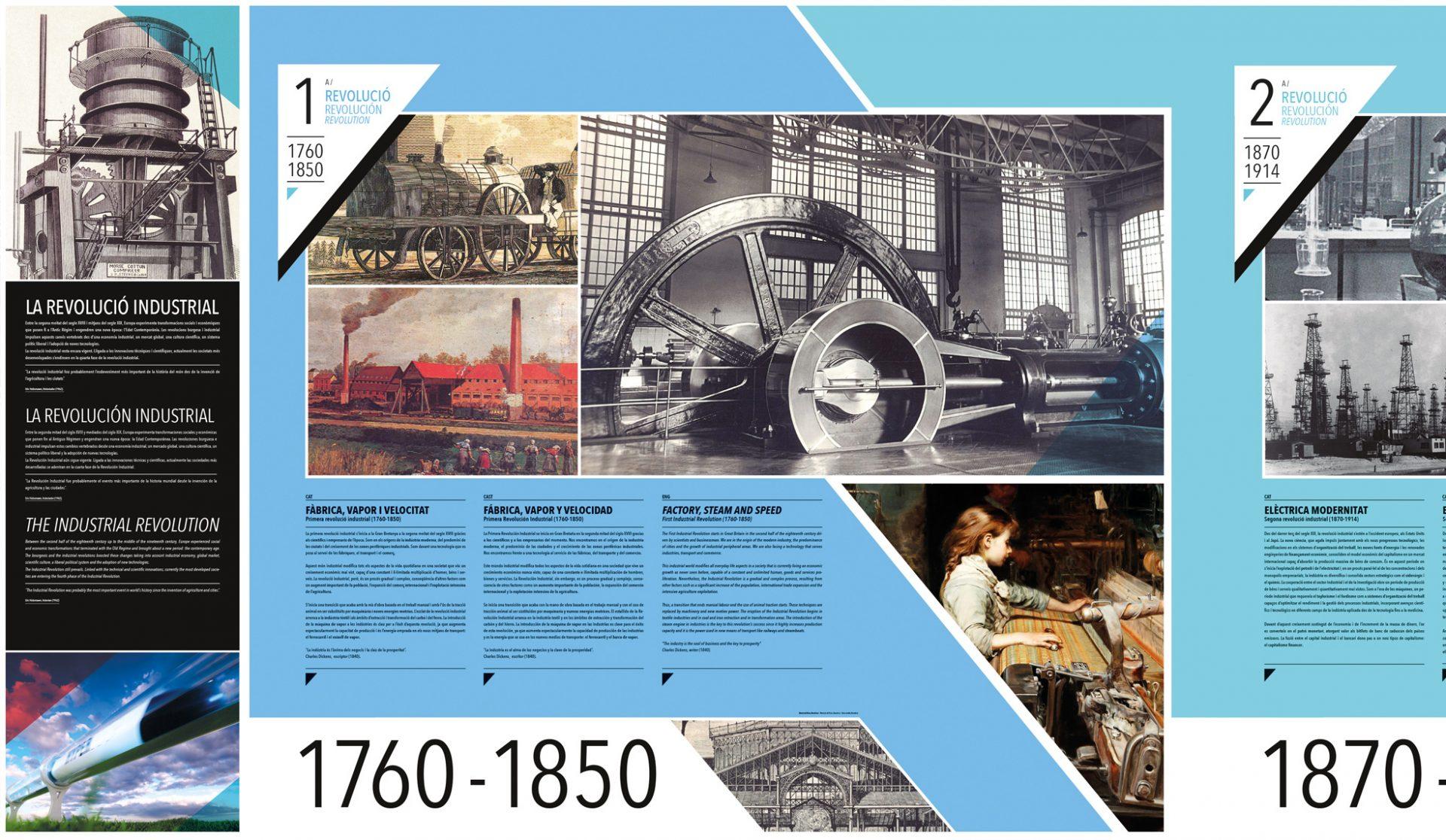 Detalle pared A para Exposición sobre la Revolución Industrial