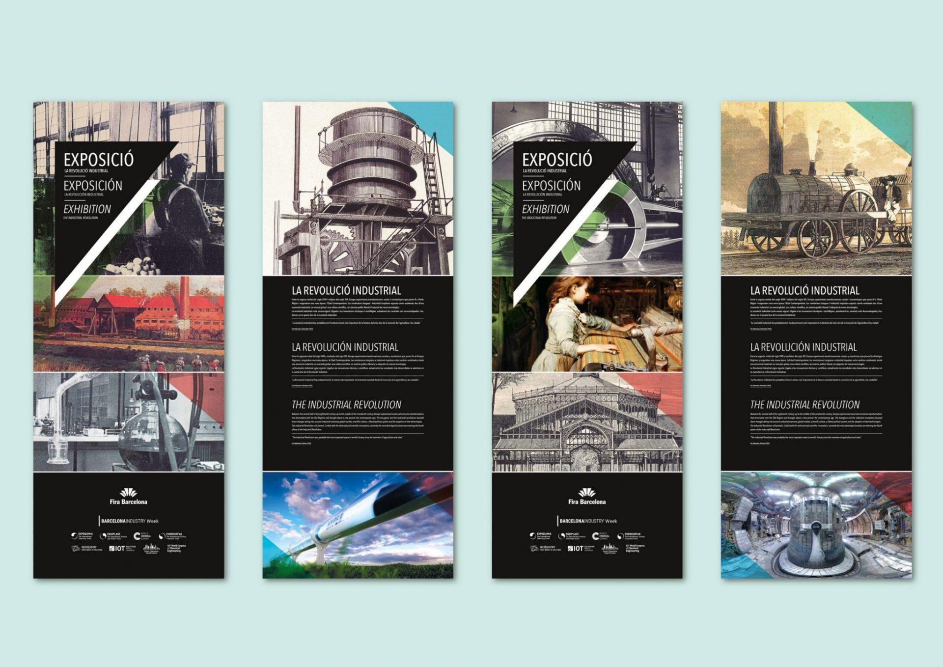 Torres para Exposición sobre la Revolución Industrial