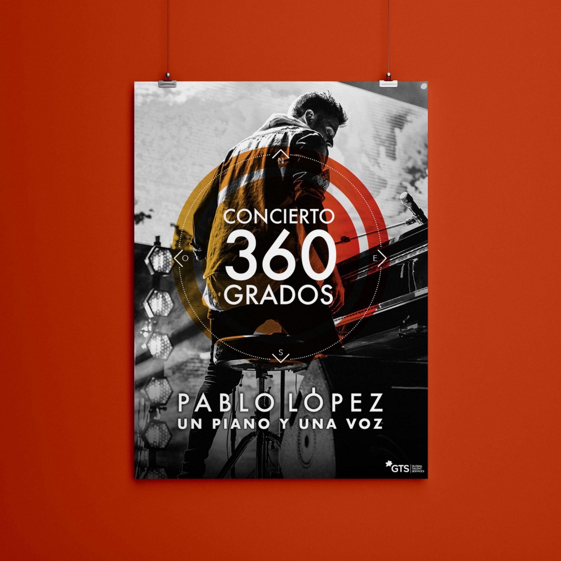 Cartel para Pablo López. Gira 360º