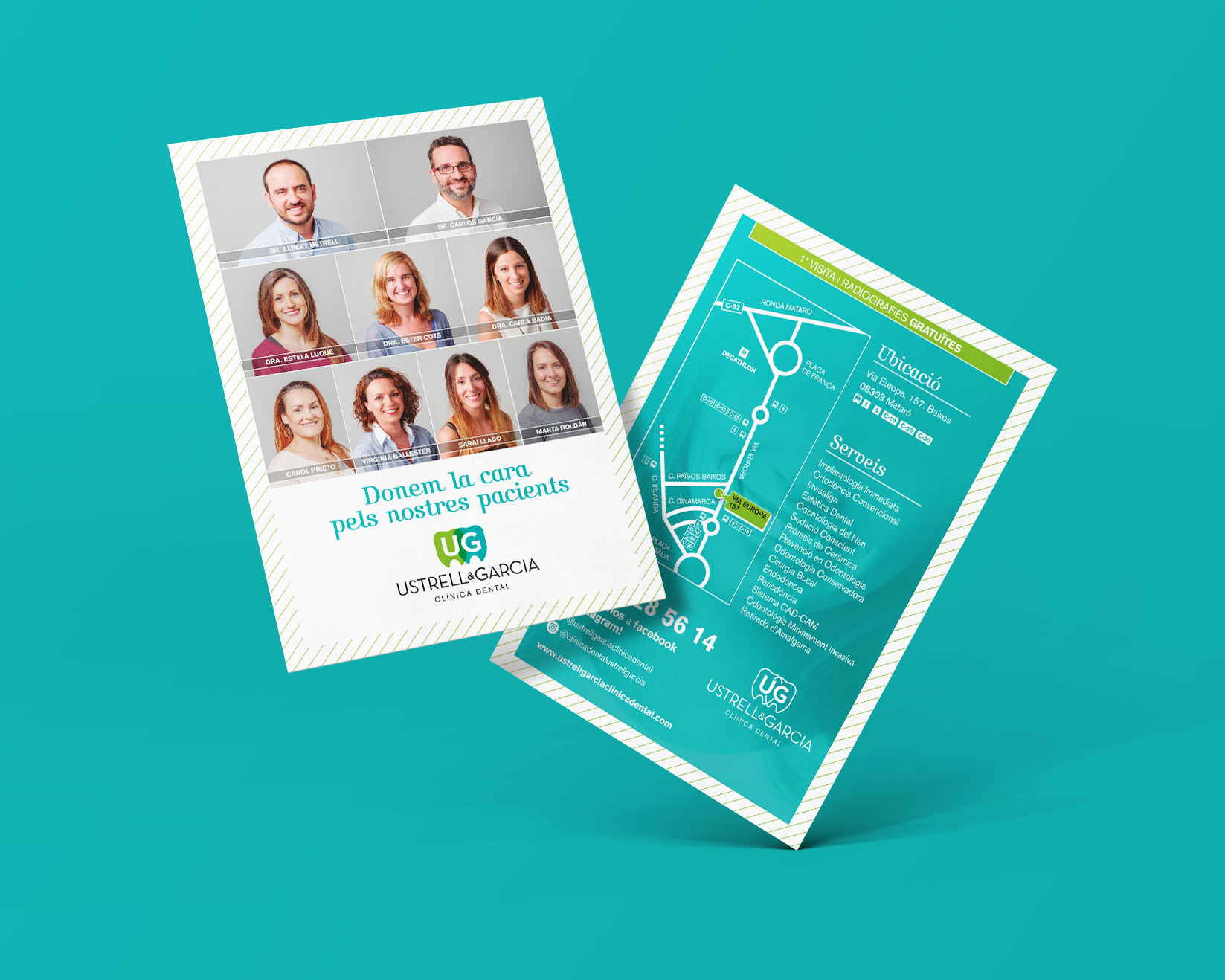 Flyer promoción Clínica Dental Ustrell & García