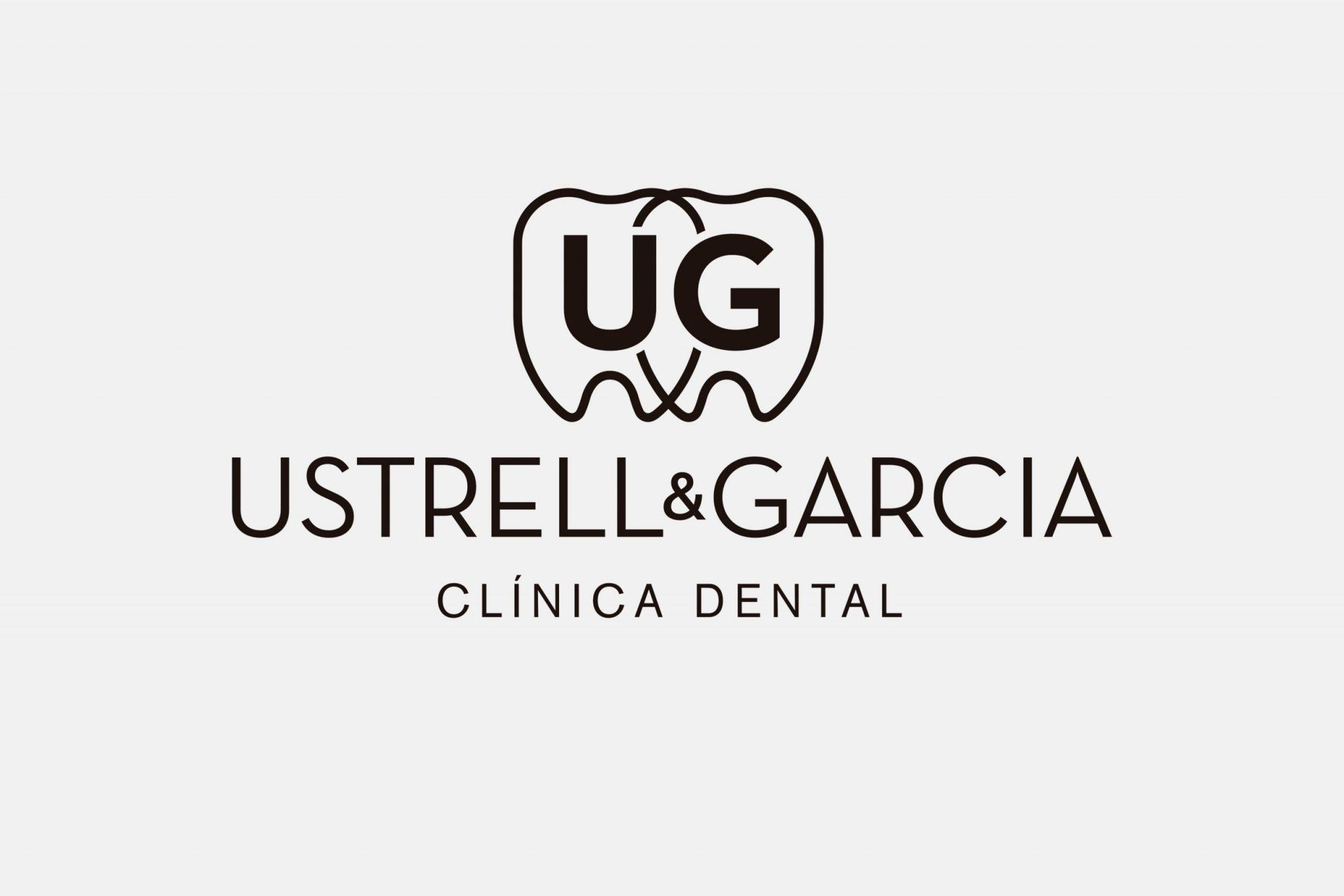 Logotipo clínica dental 1 tinta