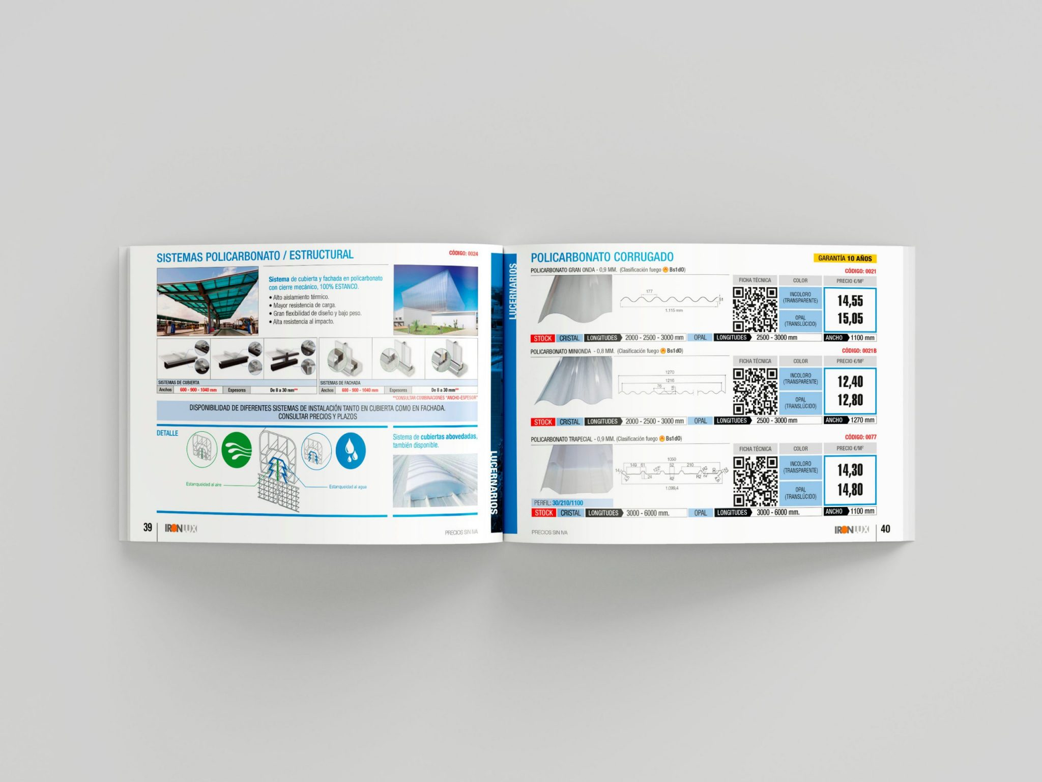 Interior Catálogo/tarifa 2020