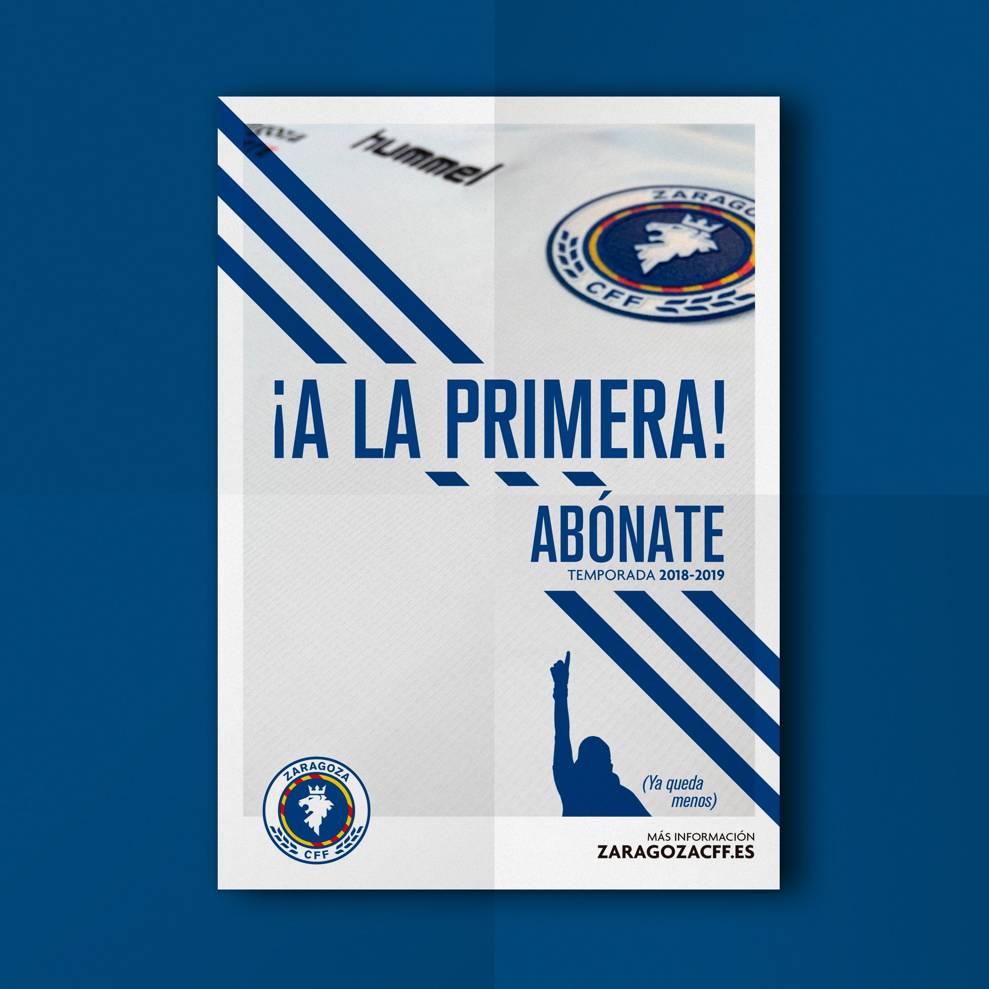 Cartel campaña abonos Zaragoza CFF